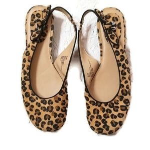 A.n.a Leather Slip on Leopard Print Size 8.5 Shoes